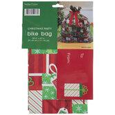 Red, Green & White Gift Bike Bag