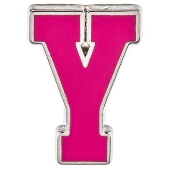 Pink Letter Metal Pin - Y