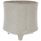 Beige Speckled Flower Pot