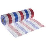 "Metallic Red, White & Blue Striped Deco Mesh Ribbon - 10"""