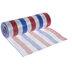 Metallic Red, White & Blue Striped Deco Mesh Ribbon - 10