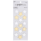 Gold & Silver Mirrored Star Stickers