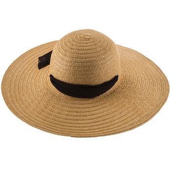 Straw Floppy Hat with Ribbon