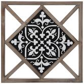 Black & White Tile Wood Wall Decor
