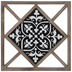 Black & White Tile Wood Wall Decor