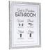 Bathroom Procedures Wood Wall Decor