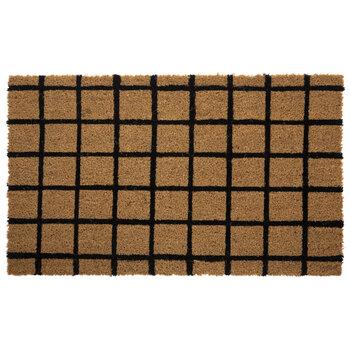 Black Graph Check Doormat