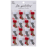 Plaid Stocking 3D Stickers