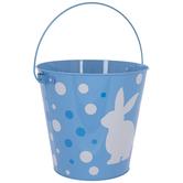 Easter Bunny Metal Bucket
