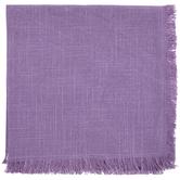 Stonewash Purple Fringe Cloth Napkin