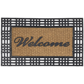 Welcome Trimmed Coir Doormat