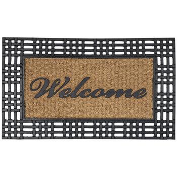 Welcome Trimmed Coir Doormat