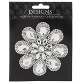 Rhinestone Flower Iron-On Applique