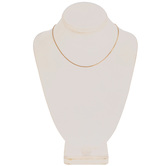 """Tiny Curb Chain Necklace - 16"""""""