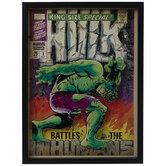 Hulk Comic Cover Framed Wall Decor