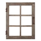 Natural Window Wood Wall Decor