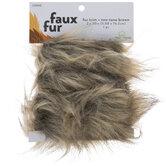 Two-Tone Brown Faux Fur Trim