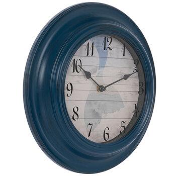 Blue Mermaid Tail Wall Clock