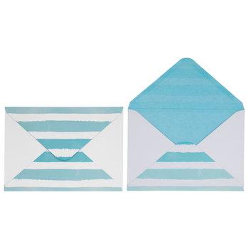 Let's Celebrate Watercolor Striped Invitations