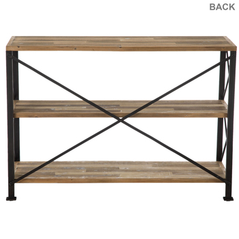 Industrial Three-Tiered Metal Shelf