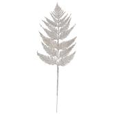 White Glitter Leafy Branch