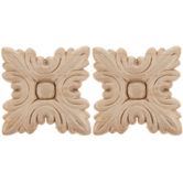 Serrated Square Wood Appliques