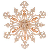 Champagne Triple Point Snowflake Ornament