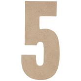 "Wood Number 5 - 5"""