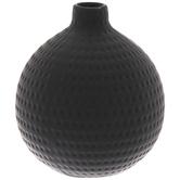 Black Round Dotted Vase