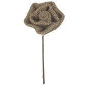 Brown Burlap Rose Pick
