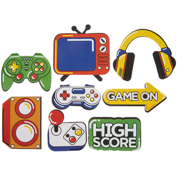 Game On Foam Stickers