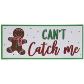 Can't Catch Me Gingerbread Man Wood Wall Decor