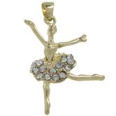 Ballerina Pendant With Rhinestones