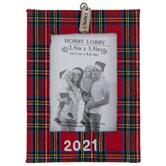 Plaid 2021 Family Frame Ornament