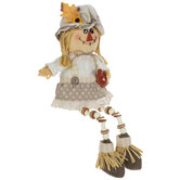 Scarecrow With Gourd Shelf Sitter