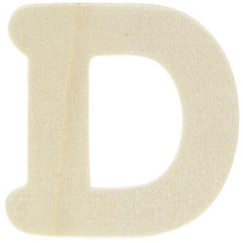 """Wood Letters D - 1 3/4"""""""
