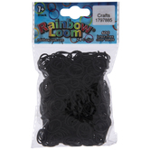 Black Loom Bands With Clips