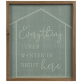 Everything I Wanted Wood Wall Decor