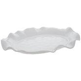White Wavy Edge Platter