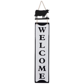 Welcome Cow Metal Wall Decor