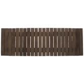 Brown Wood Slat Table Runner