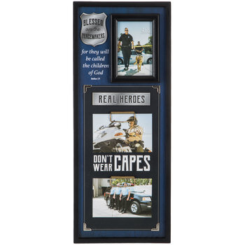 Police Officer Wood Collage Frame