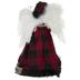 Red & Black Plaid Angel Tree Topper