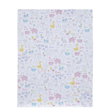 "Alphabet & Animals Scrapbook Paper - 8 1/2"" x 11"""