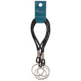 Black Elastic Cord Keychains