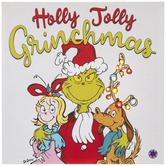 Holly Jolly Grinchmas Light Up Canvas Wall Decor