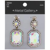 Iridescent Rhinestone Glass Pendants