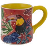 Yellow Abstract Toucan Mug