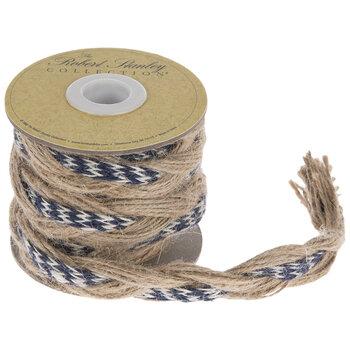 "Chevron Jute Braided Ribbon - 11/16"""