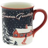 Seasons Greetings Retro Mug